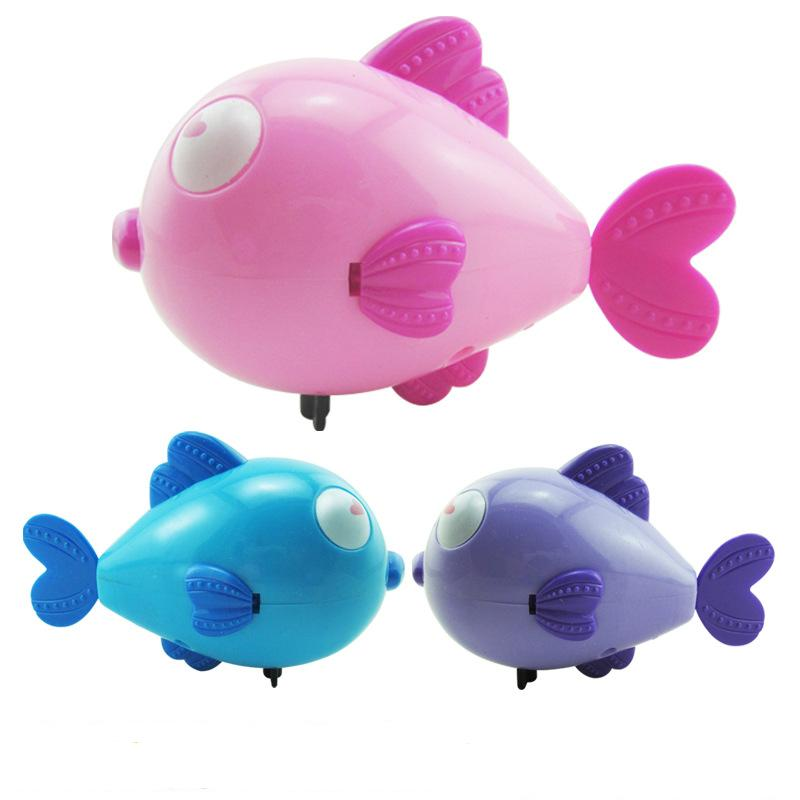 Cute Cartoon Funny Baby Bath Toy Swimming Animal Fish Clockwork Wind Up Toy Shark Plastic Pool Bath Toys Kids Gift Toy great