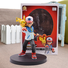 цены на 5'' Pikachu Ash Ketchum Figure Japanese Anime Action Figures PVC Toys Collection Nendoroid Game Figure Figurines Toys Doll Gift  в интернет-магазинах