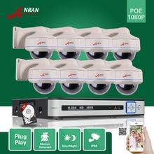 ANRAN P2P 8-КАНАЛЬНЫЙ HD POE NVR 30IR Vandalproof Купол, Водонепроницаемый сеть 1080 P POE Ip-камера Главная Безопасность Системы Видеонаблюдения 3 ТБ HDD