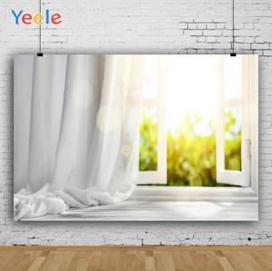 Image 3 - Yeele biały dom kurtyna okno słońce wnętrze fotografia tła dostosowane fotograficzne tła dla Photo Studio