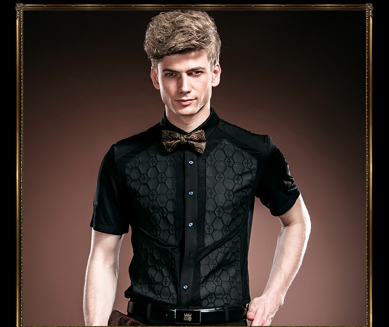 fa430bf2fca Fanzhuan Free Shipping New male fashion Mens Men s 2014 man Palace Wear  summer black lace slim
