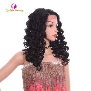 Image 2 - Perruque Lace Front Wig bouclée noire Golden Beauty