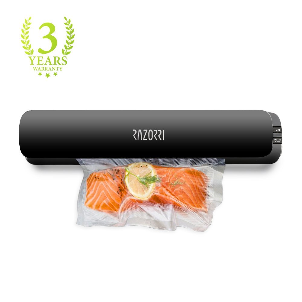 Razorri E1800-C Vacuum Sealer Packaging Machine Auto Sealing System Sous Vide Food Packer Food Bags Film Vacuum Preservation sf 270 220v household food vacuum sealer packaging machine film sealer vacuum packer 300w manual sealing machine