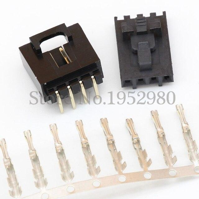 50 Satz MX2.54 Dupont Stecker 4 Pin mit Gürtelschnalle Einreihige 2,54mm Rechtwinklig Pin Header + Gehäuse + Terminals