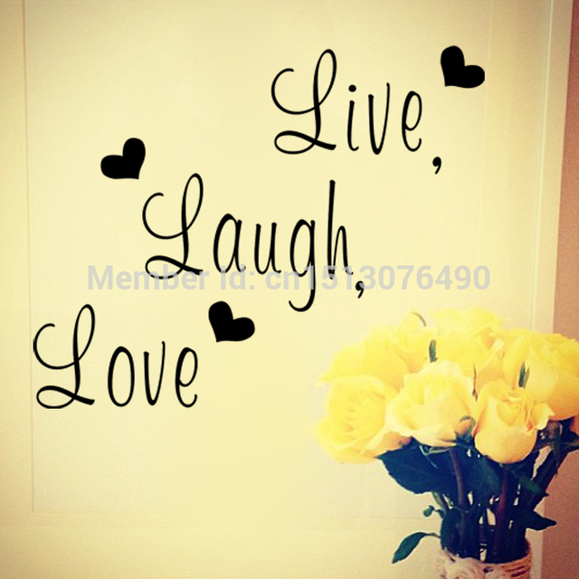 Live Laugh Love Family creative wall decals ZooYoo8176 decorative ...
