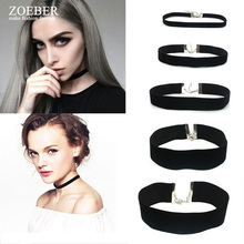 Fashion Bead Choker Necklace Black Leather Rope Muli Necklace Silver Metal Bead Short Bowknot Necklace Gifts Women Female