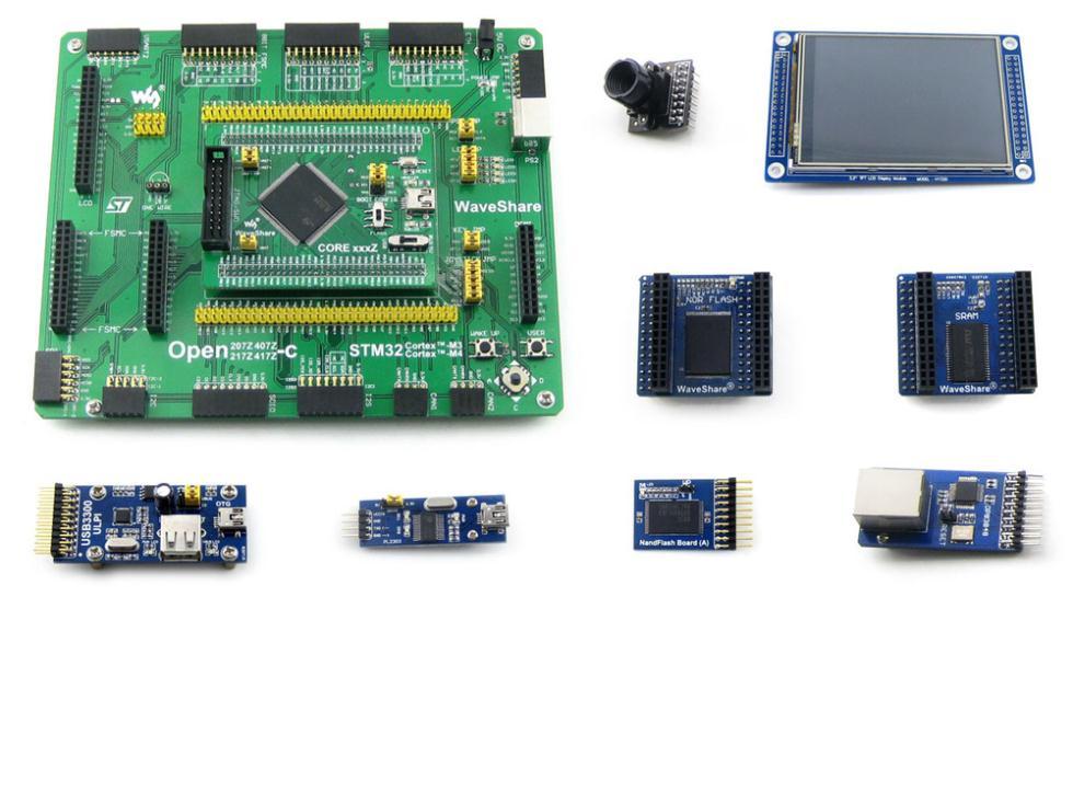 Module Stm32 Arm Cortex-m4 Development Board Stm32f407zxt6 + 3.2inch 320x240 Touch Lcd+8 Modules= Open407z-c Package A stm32 board arm cortex m4 stm32f407 stm32f407z 3 2 lcd display usb uart ethernet norflash camera module open407z c package a