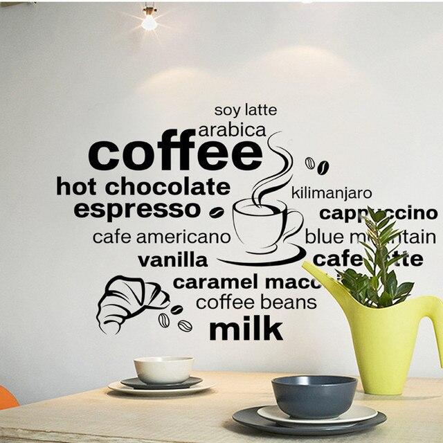 Köstlichen kaffee tasse vinyl angebot entfernbare wandaufkleber DIY ...