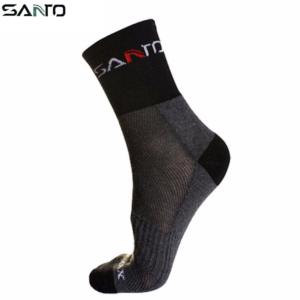 SANTO Breathable Riding Crew Socks Ciclismo Bicicleta Outdoor Hiking Camping Running Sports Sock MTB Road Bicycle Socks quiksilver riding socks youth brillant 1108221