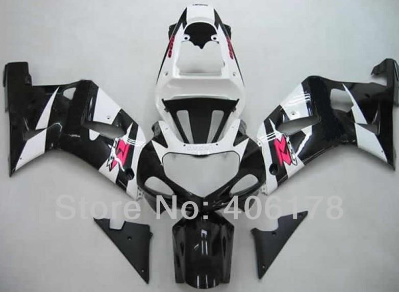 Горячие продаж,дешевые gsxr 600 750 К1 обтекатель для Suzuki GSXR 600 750 2001 2002 2003 черный и белый наборы тела (литья под давлением)
