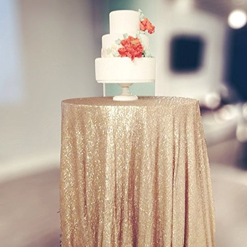 50 Square Matte Gold Sequin Tablecloth Select Your Color