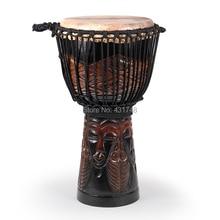 """SF бренд 1"""" красное дерево Djembe барабан Африканский барабан с рисунком carven Музыкальные инструменты"""
