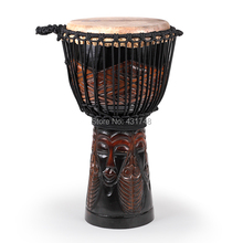 SF brand 10″ Mahogany Djembe drum African Drum with carven pattern Free Shipping Musical instruments