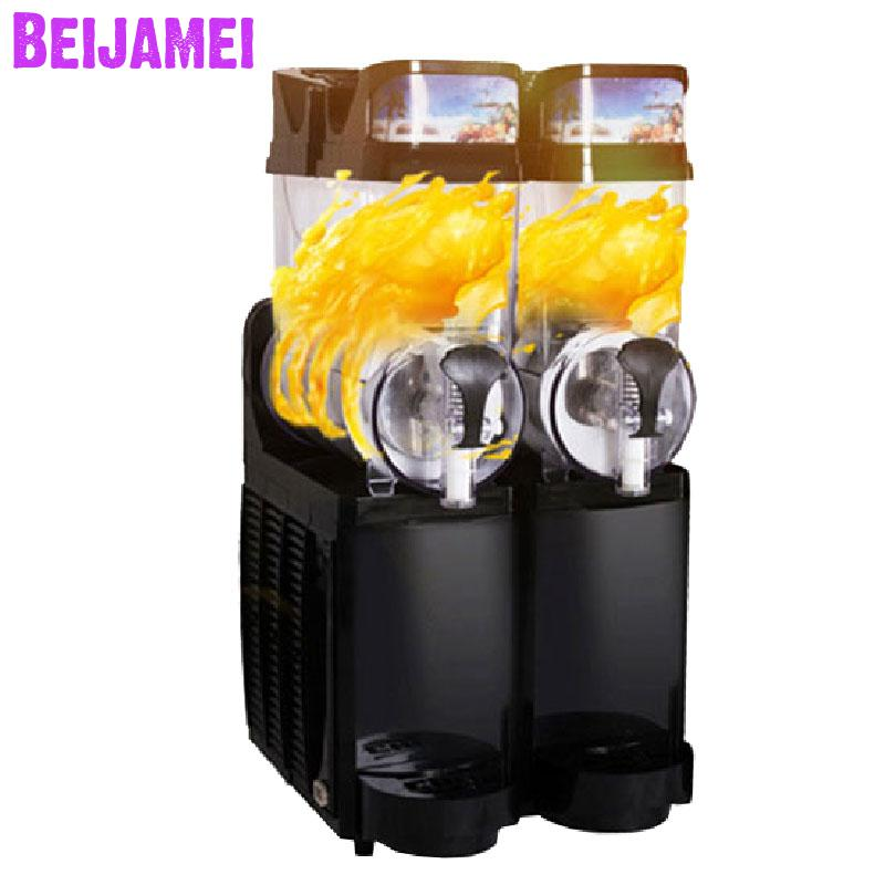 Beijamei Full Automatic 2 Tanks Snow Melting Machines Commercial Slush Machine Electric Smoothies Maker For Sale