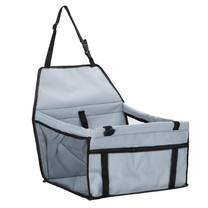 Pet Car Sheat Travel Basket-grey