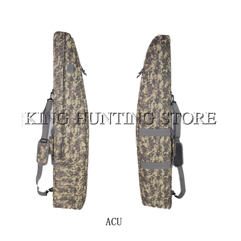 ACU US Army 47.2'' Rifle Gun Bag Tactical Hunting Accessories Gun Protection Case Nylon Shoulder Bag With Mag Pouches 47 folding fishing rod bag tactical duel rifle gun carry bag with shoulder strap outdoor fishing hunting gear accessory bag