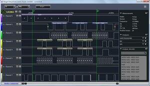 Image 4 - Kingst la1010 usb logic analyzer 100m taxa de amostra máxima, 16 canais, 10b amostras, mcu, braço, fpga debug ferramenta inglês software