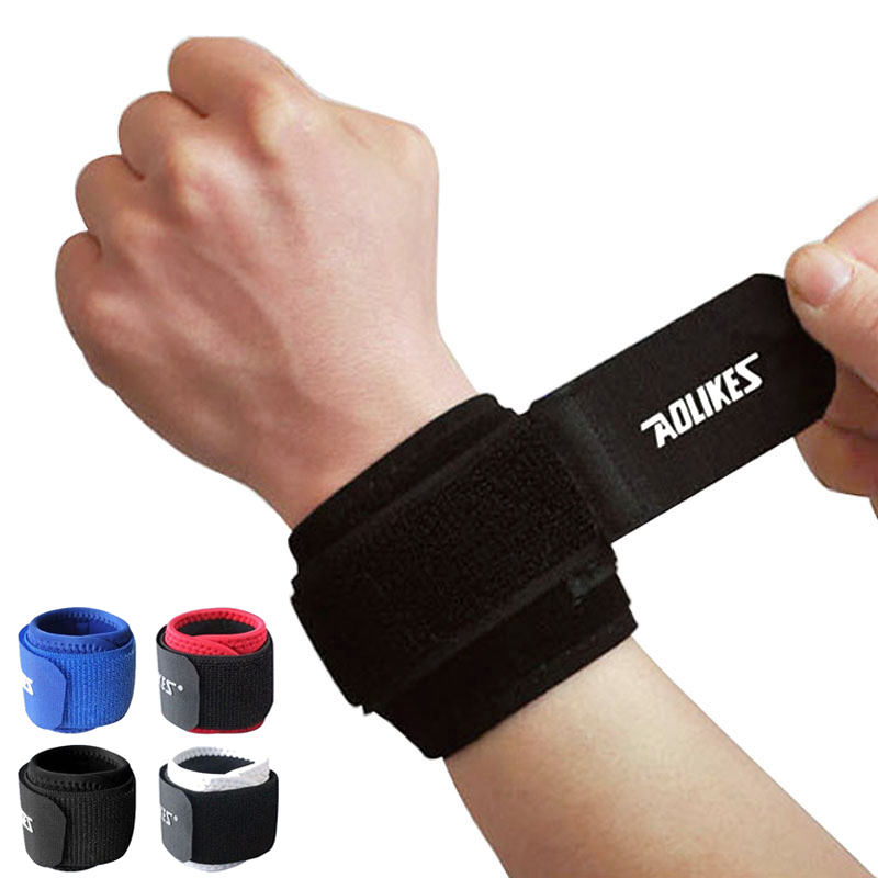 Adjustable Wrist Support Brace Brand Wristband 1 Pair Aolikes Men and Women Gym Wrestle Professional Sports Protection Wrist