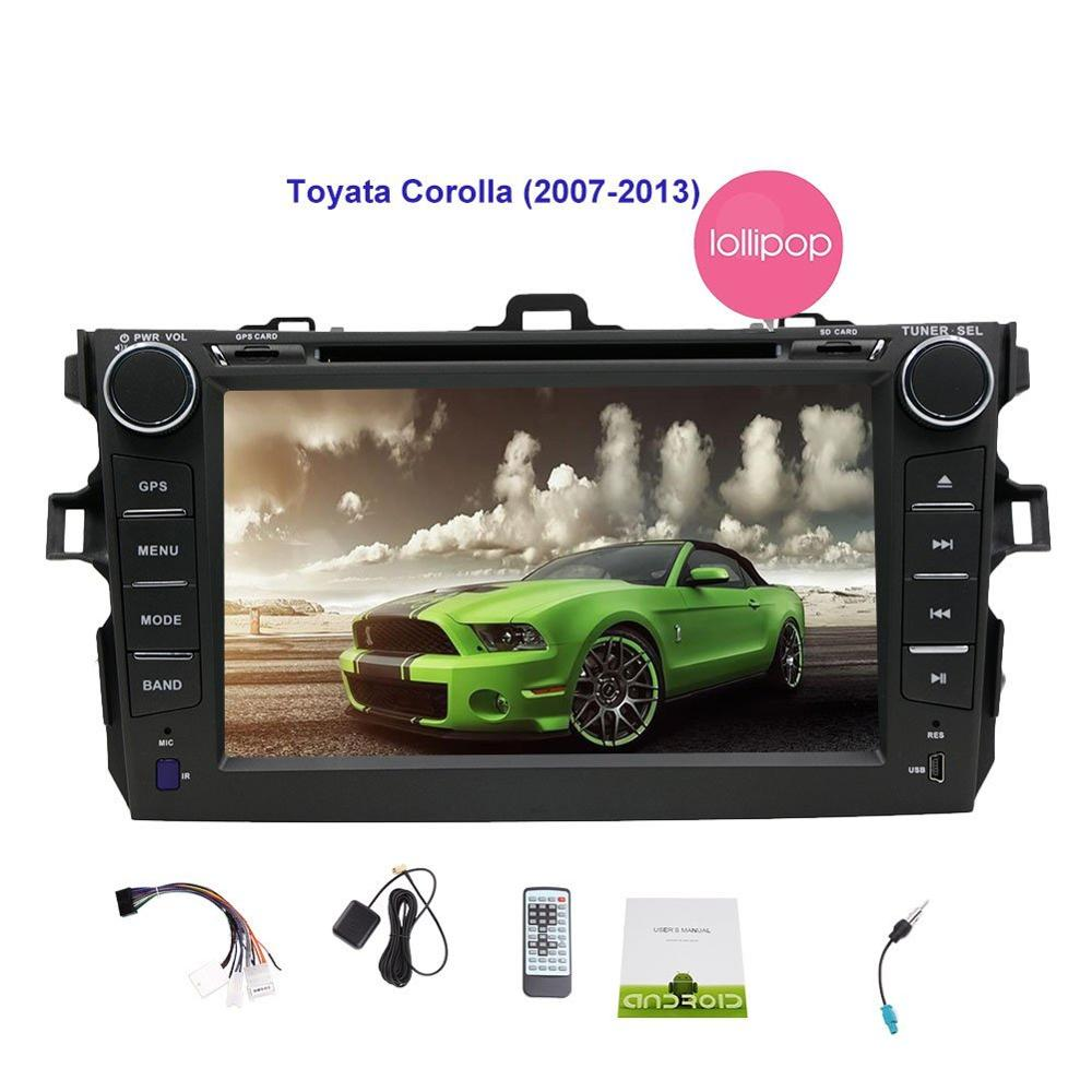 Quad Core Android 5.1.1 Fit for TOYOTA COROLLA 2001-2006 2007 2008 2009 2010 2011 Car DVD Player Navigation GPS Radio