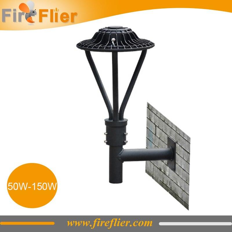 5pcs high brightness 130lm/w led street light 100w 150w flood lamp 50w 75w photocell sensor area led lamp dimming wall lighting