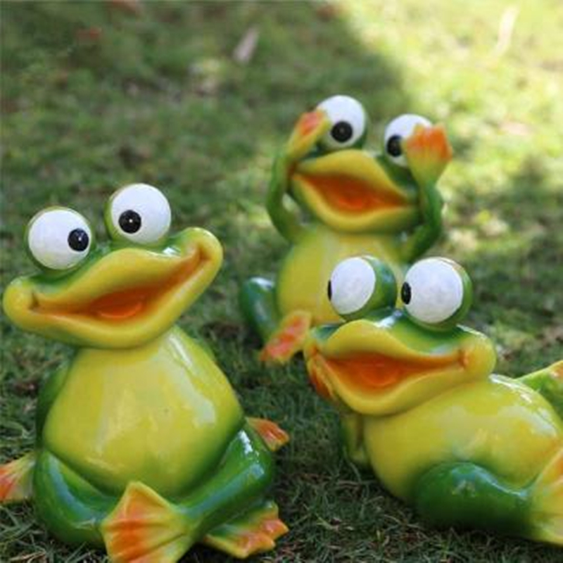 Popular frog garden sculpture buy cheap frog garden for Decoration jardin grenouille