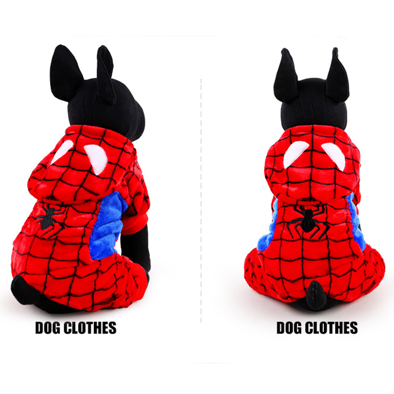 2017 Hot Sale Winter Pet <font><b>Dog</b></font> Clothes Clothing For <font><b>Small</b></font> Large <font><b>Spiderman</b></font> <font><b>Dog</b></font> Coats Winter Clothes Jackets XS-L Free shipping DC57