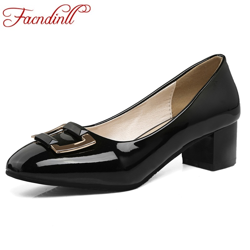 plus size 45 new spring patent leather pumps for women fashion square toe high heels ladies black apricot casual office shoes brand new hot sexy women nude pumps black pink apricot ladies formal shoes high heels aqb 2 plus big size 43 10