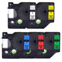cidy 5pcs/lot Dymo D1 Tape 12mm 45013/45016/45017/45018/45019 Laminated Label Ribbon For Dymo Printer