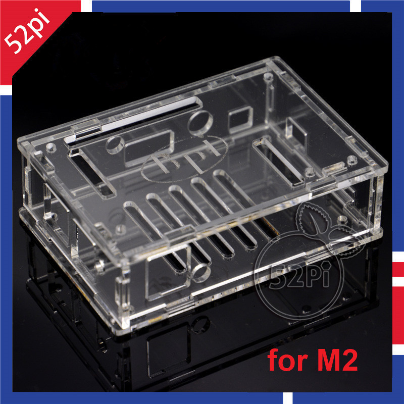 52Pi Transparent Acrylic Case Cover Shell Enclosure Box 100% Brand New-Unassembled For Banana Pi M2