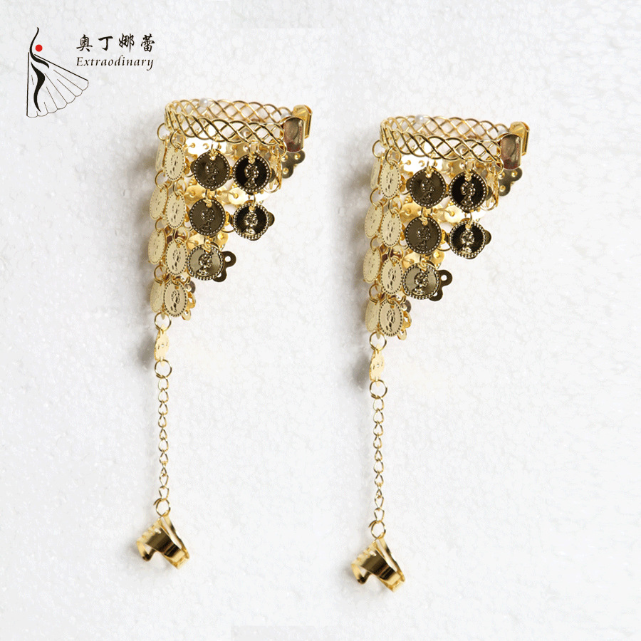 Indian Dancewear Metal Rhinestone Belly Dance Bracelet Dance Accessory Dance  Bracelet(china (mainland)