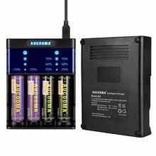 1 шт. высокого качества 4 слота Зарядное устройство Q4 USB линии Батарея Зарядное устройство 18650/AA/AAA ЖК-дисплей дисплей Бесплатная доставка (не включают Батарея)