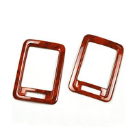 Car Interior 2pcs Set ABS Wood Color Rear Air Vent Molding Covers Trim Frame Decoration For