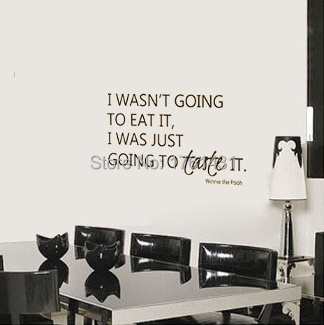 I Wasnt Going To Eat It Kitchen Wall Sticker Dining Room Winnie - Wall decals dining room