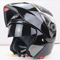 Nuevas adquisiciones mejores ventas seguras motocicleta casco con interior Sun Visor todos asequibles doble lente casco de la moto
