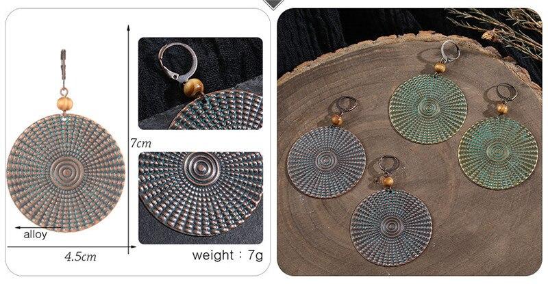 Vintage Bronze Geometric Women's Earrings Jewelry 2019 Long Metal Tass (6)