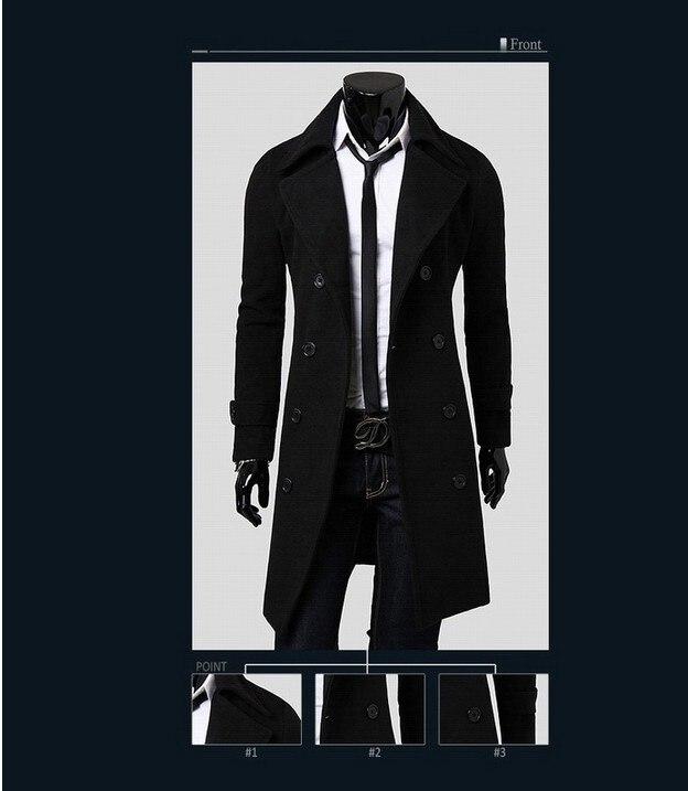 2017 Herbst Winter Neue Stil Männer In Der Langen Stil Graben Mantel Koreanische Version Der Mode Casual Windjacke Männer