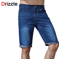 Drizzte Brand Mens Casual Stretch Blue Denim Shorts Men Jeans Summer Jean Mens Shorts Plus Size