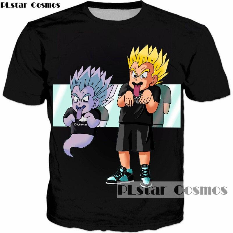 PLstar Cosmos Newest Classic Anime Dragon Ball Z DBZ Super Saiyan 3D Print T-Shirt Goku t shirts Cute Tees Tops tees tshirt