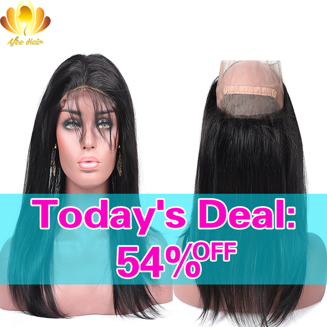 Pre Plucked 360 Lace Frontal with Bundle Brazilian Virgin Hair Straight 360 Frontal with 2 Bundles Brazilian Virgin Human Hair