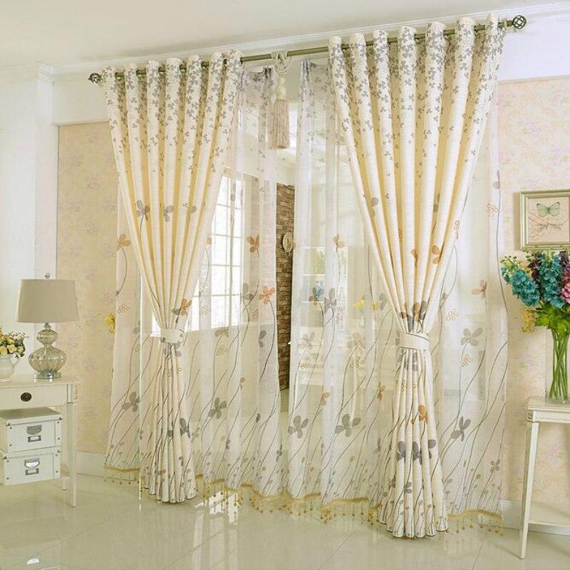 Modern Style Printed Baumwolle Und Leinen/wohnzimmer Schlafzimmer Fenster  Vorhang Gaze Vorhang, Um Zu Bestellen In Modern Style Printed Baumwolle Und  ...