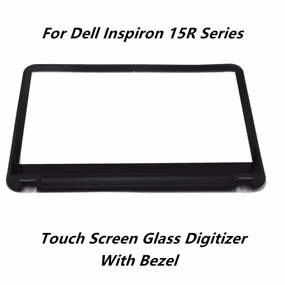 Touch Screen Panel Digitizer Sensor Glass Lens with Bezel Replacement For Dell Inspiron 15R-3521 3537 3541 5537 3535 5521 5535 free shipping b156xtk01 0 n156bgn e41 laptop lcd screen panel touch displayfor dell inspiron 15 5558 vostro 15 3558 jj45k