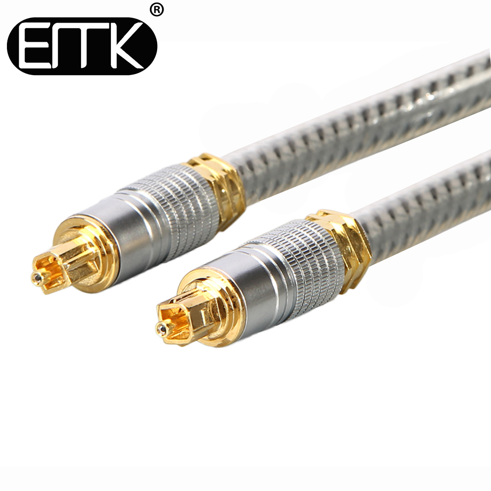 EMK spdif optical cable OD 8.0 mm Gold connector Digital Fiber Optical Toslink Audio cable