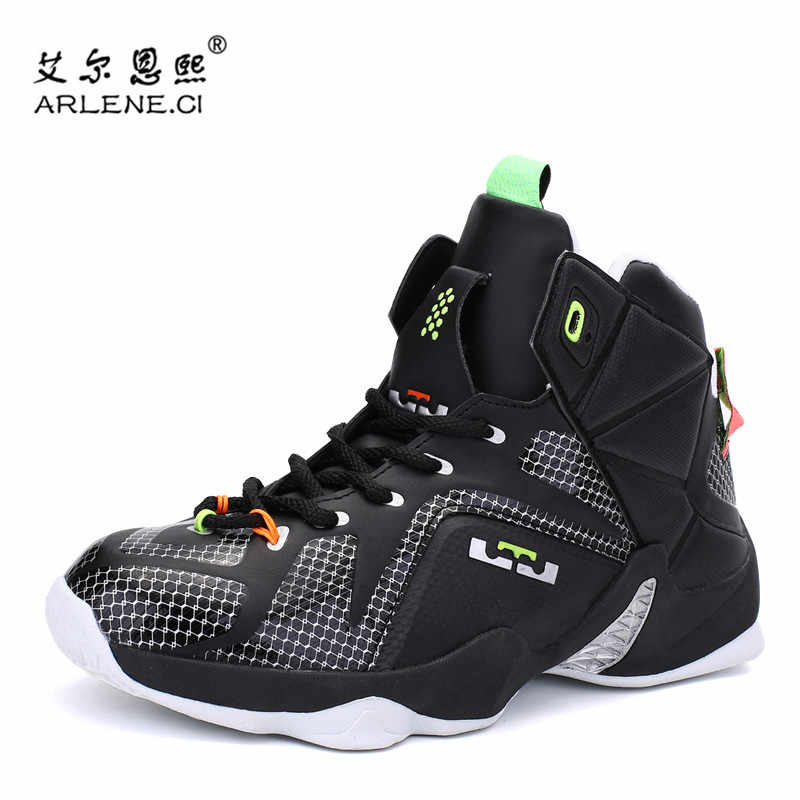 fcdda69e7f85 Plus Size 39-45 Basketball Shoes for Men High Top Sneakers Male Ankle Boots  Lebron