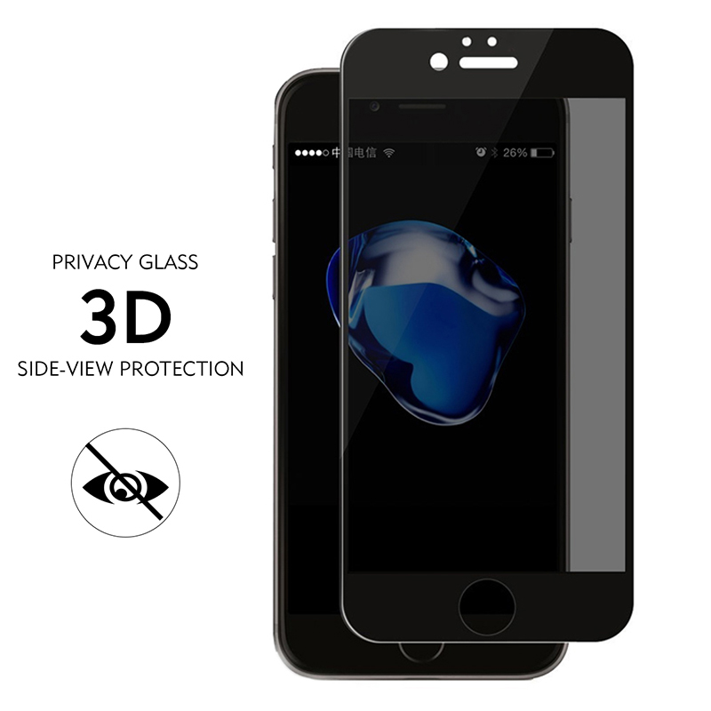 YKSPACE 3D Full Cover Anti Spy Screen Protector For iPhone 8 7 6 6s Plus 7Plus 8Plus Peeping Glare Privacy Tempered Glass Film iPhone 8