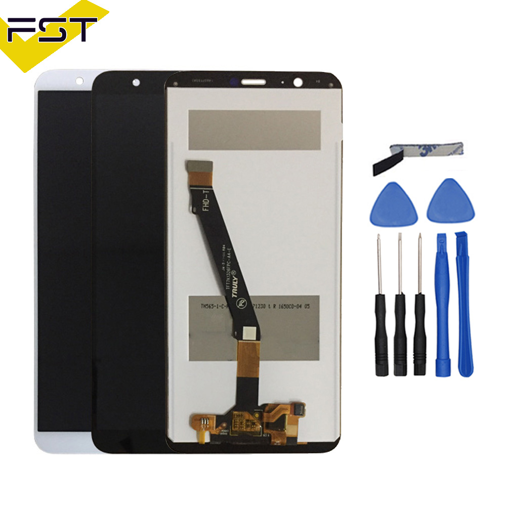 Black/White For Huawei P Smart LCD Display+Digitizer Touch Screen Assembly Replacement For Huawei P Smart Smartphone