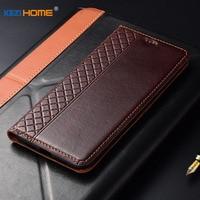 Case for Xiaomi Mi Max 3 Max3 KEZiHOME Plaid style Genuine Leather Flip wallet Cover for Xiaomi Mi Max 2 Max2 Phone cases