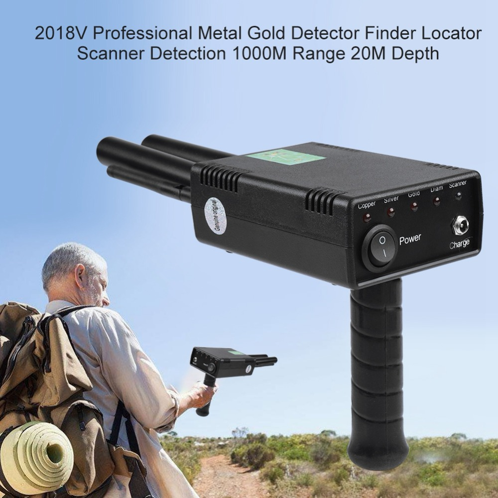 2018 v Professionale In Metallo Oro Detector Finder 1000 m Gamma 20 m di Profondità 100-240 v UE Spina DEGLI STATI UNITI