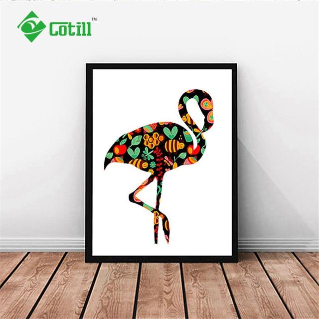 Diseño Exclusivo Flamingo Cotill Pared Cuadros Para la Sala de la ...
