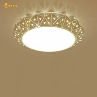 BIBOTE Acrylic Thick Modern Led Ceiling Lights With LED Bulbs For Living Room Bedroom Dining Room