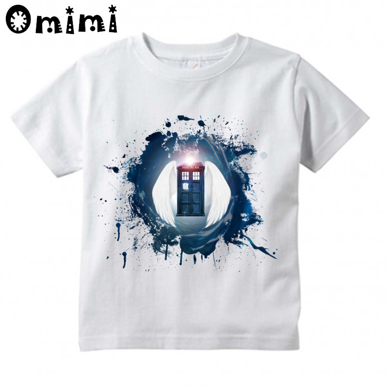 Children Doctor Who Design Tops Boys/Girls Casual T Shirt Kids DR WHO Daleks Exterminate ...